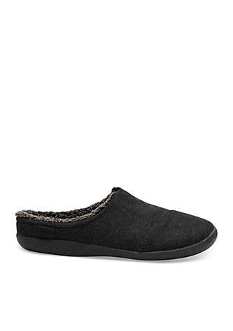 EAatqhWOLr® Berkeley Black Herringbone Woolen Mens Slippers y14Vg7aLP