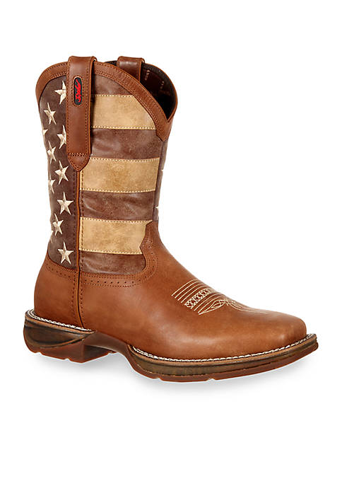 DURANGO® Rebel Faded Union Flag Western Boot