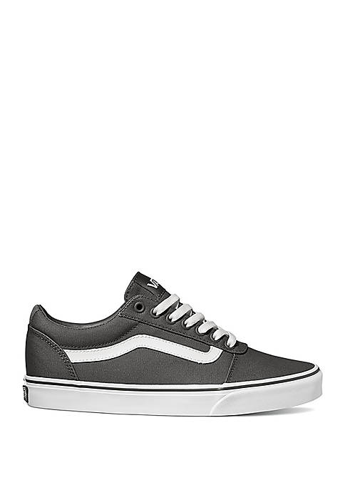 Ward Pewter White Canvas Sneakers