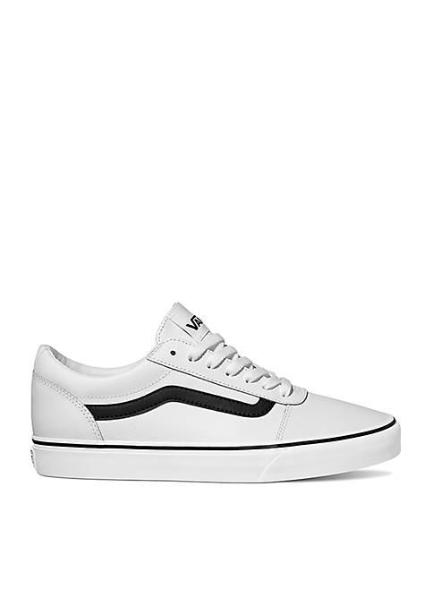 Ward Stripe White Leather Sneakers