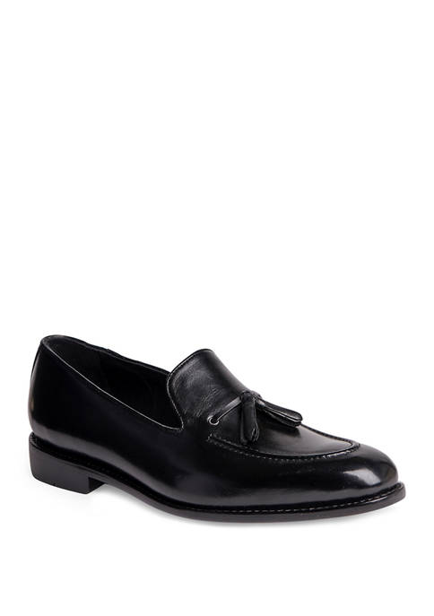 Kennedy Slip On Leather Tassel Loafer Casual Dress Shoes