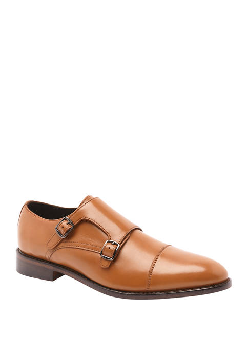 Roosevelt Double Monk Strap Leather Slip On Dress Shoes