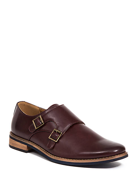 Deer Stags Cyprus Double Monk Strap Dress Shoe