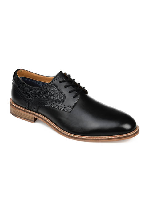 Journee Collection Clayton Plain Toe Brogue Derby Shoes
