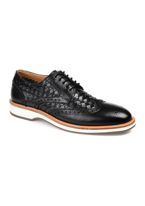 Journee Collection Radcliff Woven Wingtip Derby Shoes