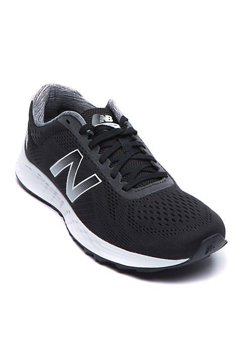 New Balance Mens Arishi Black and White Sneaker