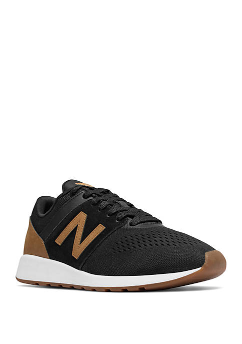 New Balance Mens 24 Black and Tan Sneaker