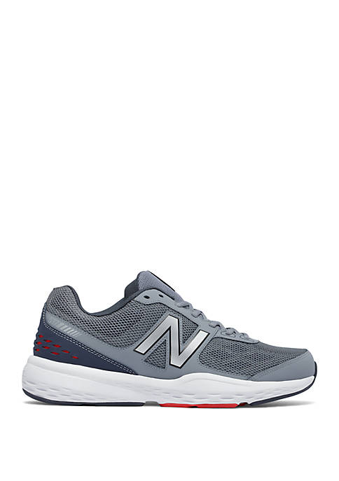 517 Grey and Red Training Shoe