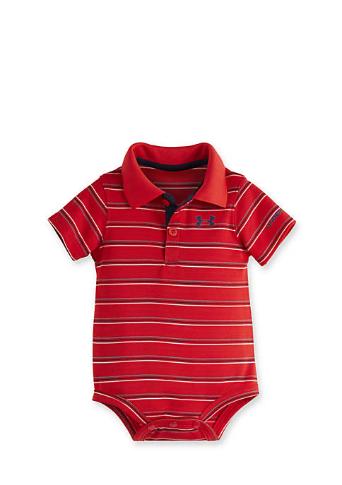 Under Armour® Striped Polo Bodysuit
