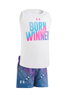 Under Armour® 2-Piece 'Born Winner' Tank and Short Set