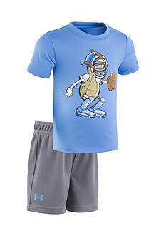 Under Armour® 2-Piece Peanut Catcher Tee and Short Set