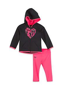 Infant Girls Front Zip Hoodie Set
