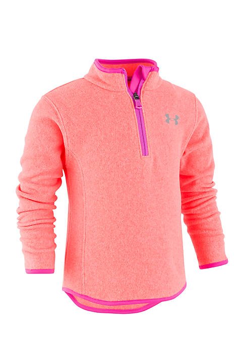 Under Armour® Infant Girls Heather Quarter Zip Pullover