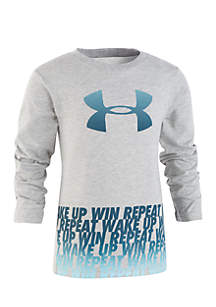 Toddler Boys Wake Up Win Repeat Long Sleeve Tee