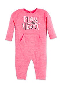 Infant Girls Play With Heart Coverall