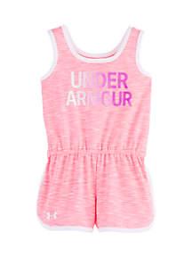 Under Armour® Baby Girls Courtside Wordmark Romper