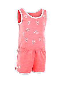 Under Armour® Baby Girls Heart Printed Romper