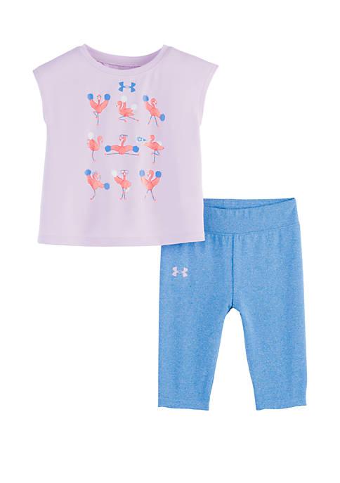 Under Armour® Baby Girls Flamingo Cheerleader Set