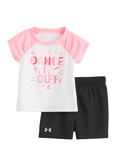 Baby Girls Dance It Out Shorts and Tee Set