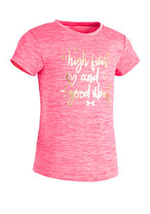 Under Armour® Baby Girls High Fives and Good Vibes T Shirt
