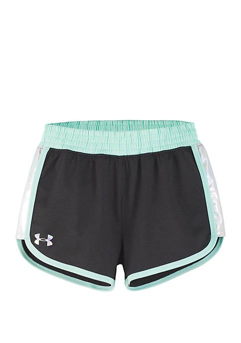 Under Armour® Baby Girls Iridescent Record Breaker Shorts