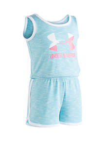 Under Armour® Toddler Girls Big Logo Romper