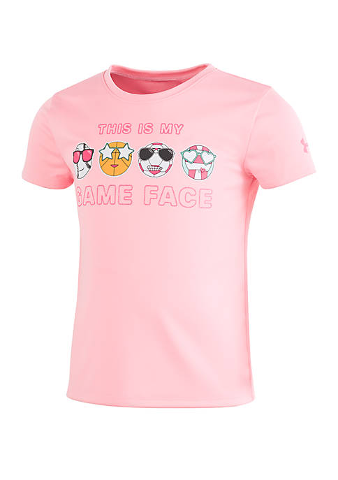 Under Armour® Toddler Girls Game Face Short Sleeve