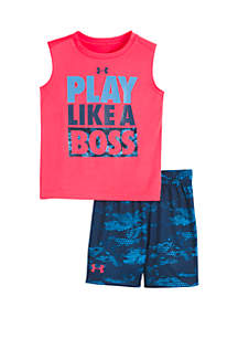 Under Armour® Baby Boys Play Like A Boss Shorts and Tank Set