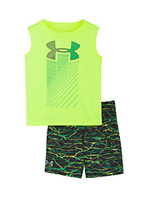 Under Armour® Baby Boys Voltage Rising Shorts and Tank Set