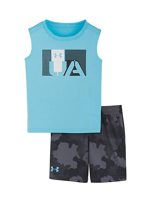 Baby Boys Traverse Camouflage Shorts and Tank Set