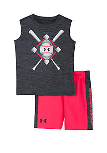 383dc831a080dd ... Under Armour® Baby Boys Baseball Anthem Shorts and Tank Set