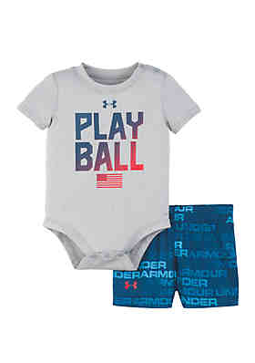 1fff4df5335 Under Armour® Baby Boys Play Ball Bodysuit and Shorts Set ...