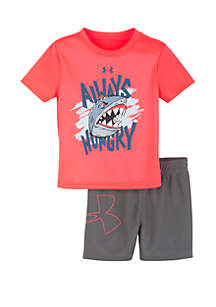 a65a1ab72a68 ... Under Armour® Baby Girls Always Hungry T Shirt and Shorts Set
