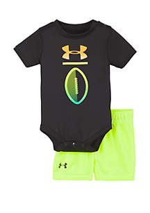 b2e5b030a95 ... Under Armour® Baby Boys Football Logo Shorts and Bodysuit Set
