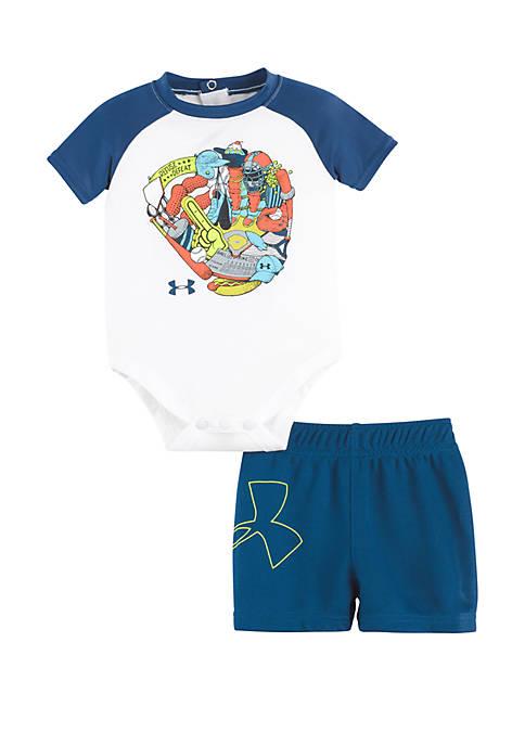Under Armour® Baby Boys Baseball Glove Raglan Set