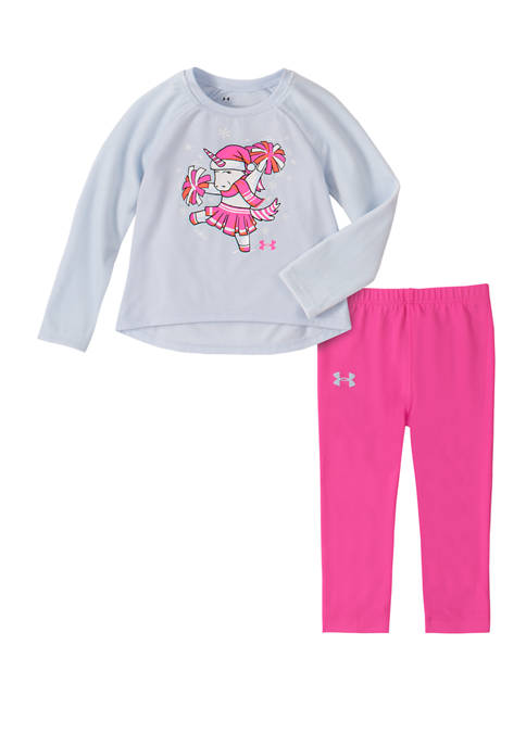 Under Armour® Baby Girls 2 Piece Cheer Holiday Unicorn Set ...