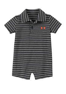Under Armour® Baby Boys Stripe Polo Shortalls