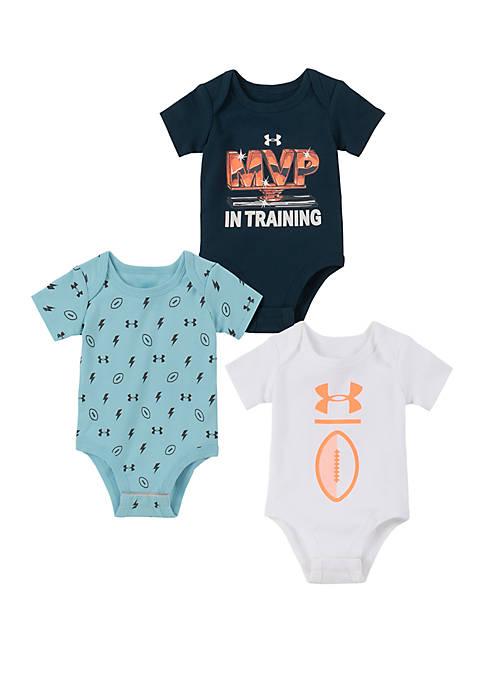 Under Armour® Baby Boys MVP 3 Pack Bodysuits