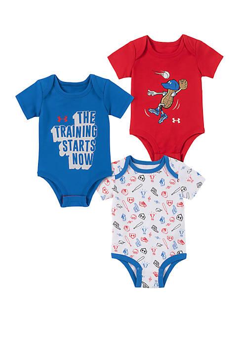 Baby Boys Peanut Bodysuit 3 Pack