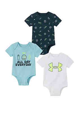 b2d7ed36 Under Armour® Baby Boys All Day Everyday 3 Pack Bodysuits ...