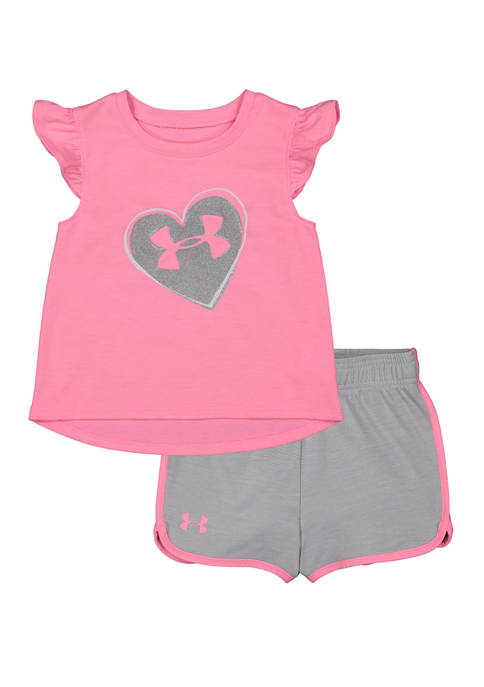 Toddler Girls Logo Heart Set