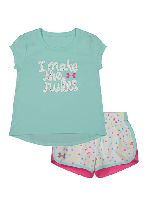 Toddler Girls I Make the Rules T-Shirt Set