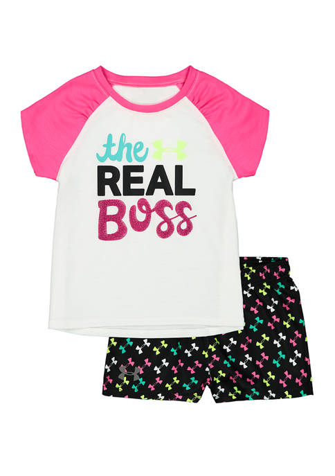 Under Armour® Toddler Girls The Real Boss T-Shirt