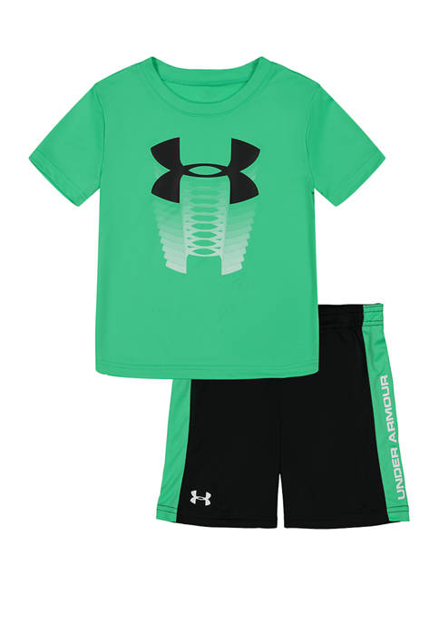 Toddler Boys Rising Logo Graphic T-Shirt and Shorts Set
