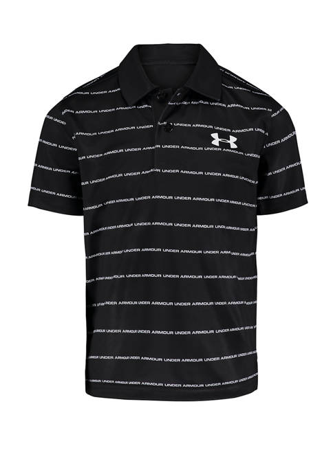 Toddler Boys Stripe Wordmark Polo Shirt