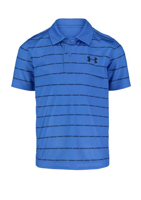 Under Armour® Toddler Boys Stripe Wordmark Polo Shirt