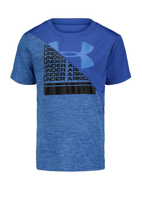 Toddler Boys Short Sleeve Split Graphic T-Shirt