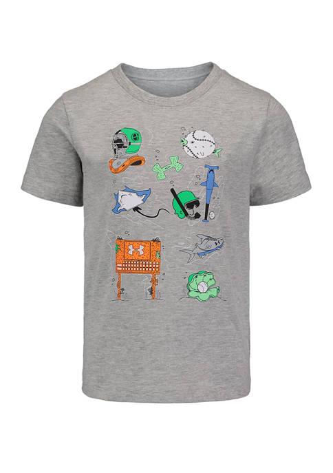 Toddler Boys Underwater Sports Short Sleeve Graphic T-Shirt