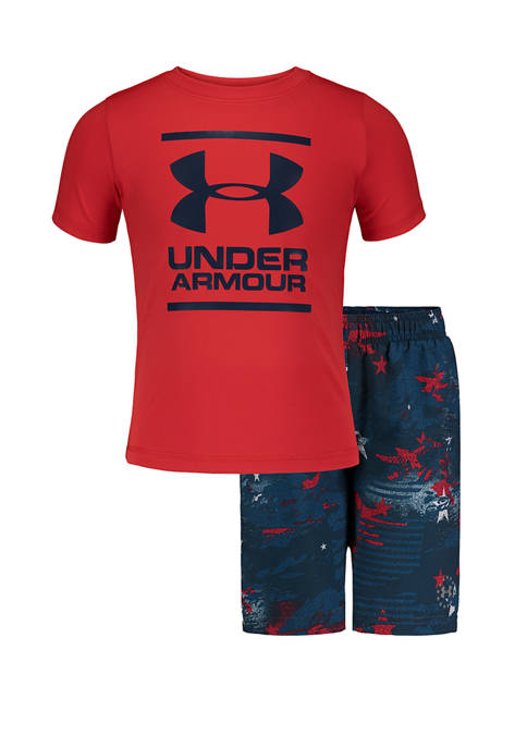 Under Armour® Toddler Boys Camo Stars Volley Swim