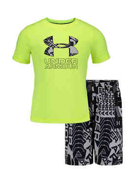 Under Armour Young Boys AllSeasonGear 2 Piece Warm Up Set Many Styles//Colors $40